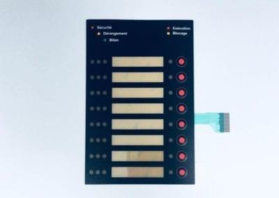 klawiatura membranowa z kieszenią na opisy / keypad with a plug in bag for descriptions