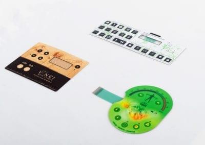 Membrane keypads graphic overlay