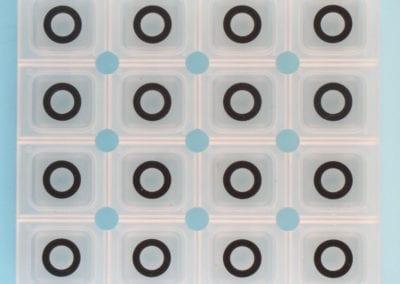 rubber keypad conductive pils